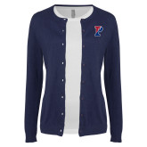 Ladies Navy Cardigan-Split P