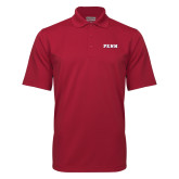 Cardinal Mini Stripe Polo-PENN Wordmark