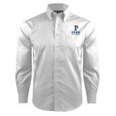Red House White Dobby Non Iron Long Sleeve Shirt-Sprint Football