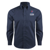 Red House Deep Blue Herringbone Non Iron Long Sleeve Shirt-Lacrosse