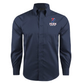Red House Deep Blue Herringbone Non Iron Long Sleeve Shirt-Rowing