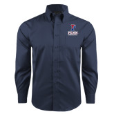 Red House Deep Blue Herringbone Non Iron Long Sleeve Shirt-Gymnastics