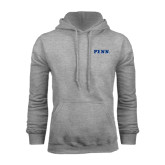 Grey Fleece Hood-PENN Wordmark