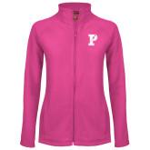 Ladies Fleece Full Zip Raspberry Jacket-Split P