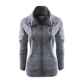 Ladies Sport Wick Stretch Full Zip Charcoal Jacket-Split P