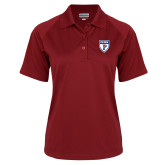 Ladies Cardinal Textured Saddle Shoulder Polo-PENN Shield