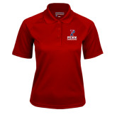 Ladies Cardinal Textured Saddle Shoulder Polo-Cheerleading