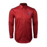 Cardinal Twill Button Down Long Sleeve-Split P
