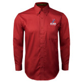 Cardinal Twill Button Down Long Sleeve-Sprint Football