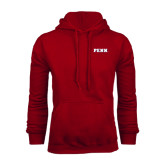 Cardinal Fleece Hood-PENN Wordmark
