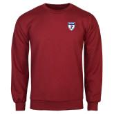 Cardinal Fleece Crew-PENN Shield