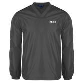V Neck Charcoal Raglan Windshirt-PENN