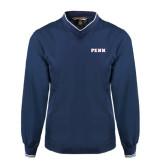Navy Executive Windshirt-PENN Wordmark