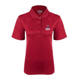 Ladies Cardinal Dry Mesh Polo-Baseball