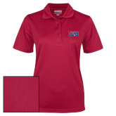 Ladies Cardinal Dry Mesh Polo-Penn Band