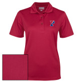 Ladies Cardinal Dry Mesh Polo-Split P