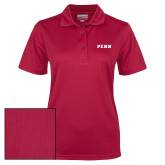 Ladies Cardinal Dry Mesh Polo-PENN