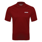 Cardinal Textured Saddle Shoulder Polo-PENN Wordmark