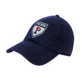 Navy Twill Unstructured Low Profile Hat-PENN Shield