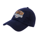 Navy Twill Unstructured Low Profile Hat-The Palestra