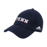 Adidas Navy Slouch Unstructured Low Profile Hat-PENN Wordmark