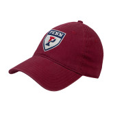Cardinal Twill Unstructured Low Profile Hat-PENN Shield