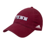 Adidas Cardinal Slouch Unstructured Low Profile Hat-PENN Wordmark