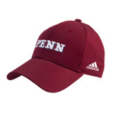 Adidas Cardinal Structured Adjustable Hat-PENN Wordmark