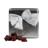 Decadent Chocolate Clusters Silver Medium Tin-Split P Engraved