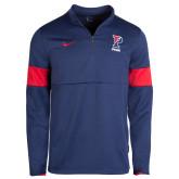 NIKE Sideline Navy/Red Men''s Coaches 1/2 Zip Top-