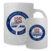 Full Color White Mug 15oz-Franklin Field 125 Logo