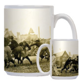 Full Color White Mug 15oz-1909 Football v. Lafayette
