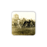Hardboard Coaster w/Cork Backing-1909 Football v. Lafayette