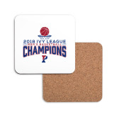 Hardboard Coaster w/Cork Backing-2018 Mens Basketball Regular Season Champions