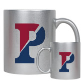 11oz Silver Metallic Ceramic Mug-Split P