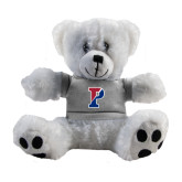 Plush Big Paw 8 1/2 inch White Bear w/Grey Shirt-Split P
