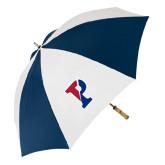 62 Inch Navy/White Umbrella-Split P