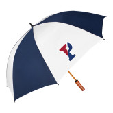 62 Inch Navy/White Vented Umbrella-Split P