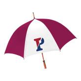 62 Inch Cardinal/White Umbrella-Split P