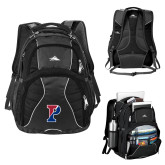 High Sierra Swerve Black Compu Backpack-Split P