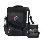 Momentum Black Computer Messenger Bag-Split P