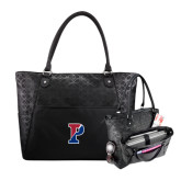 Sophia Checkpoint Friendly Black Compu Tote-Split P