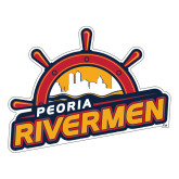 Large Decal-Peoria Rivermen Secondary Mark, 12in Wide