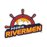 Small Decal-Peoria Rivermen Secondary Mark, 6in Wide