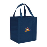 Non Woven Navy Grocery Tote-Peoria Rivermen Secondary Mark