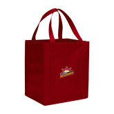 Non Woven Red Grocery Tote-Peoria Rivermen Secondary Mark