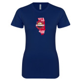 Next Level Ladies SoftStyle Junior Fitted Navy Tee-Lets go Rivermen in State