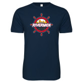Next Level SoftStyle Navy T Shirt-Primary Mark