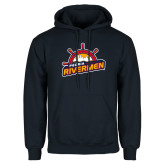 Navy Fleece Hoodie-Peoria Rivermen Secondary Mark