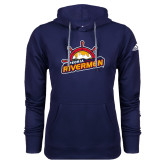 Adidas Climawarm Navy Team Issue Hoodie-Peoria Rivermen Secondary Mark